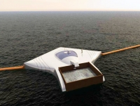 Cleanup array to remove plastic from the ocean
