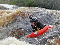 Riverboarding Orange River for water quality