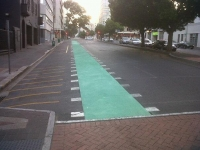 SA's first green cycle lane lands in Bree Street