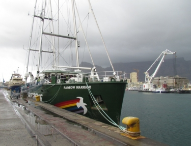 Rainbow Warrior visits the rainbow nation