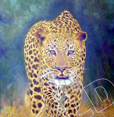leopard green news spot wildlife art eco 2