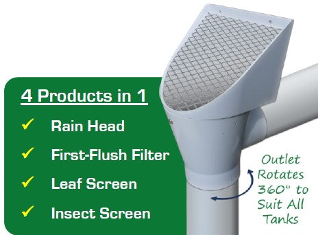 superhead rainwater tank filter