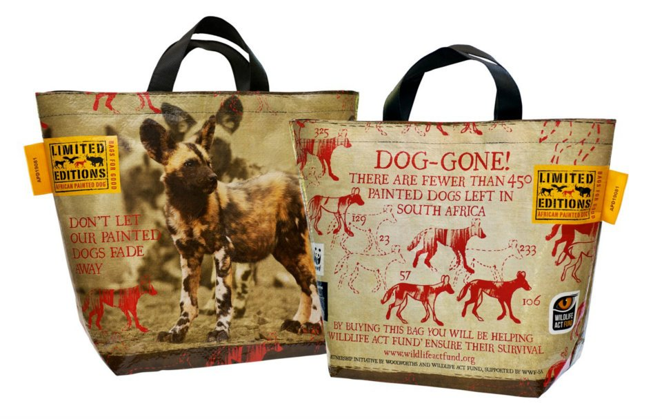 Woolies African Painted Dog bag