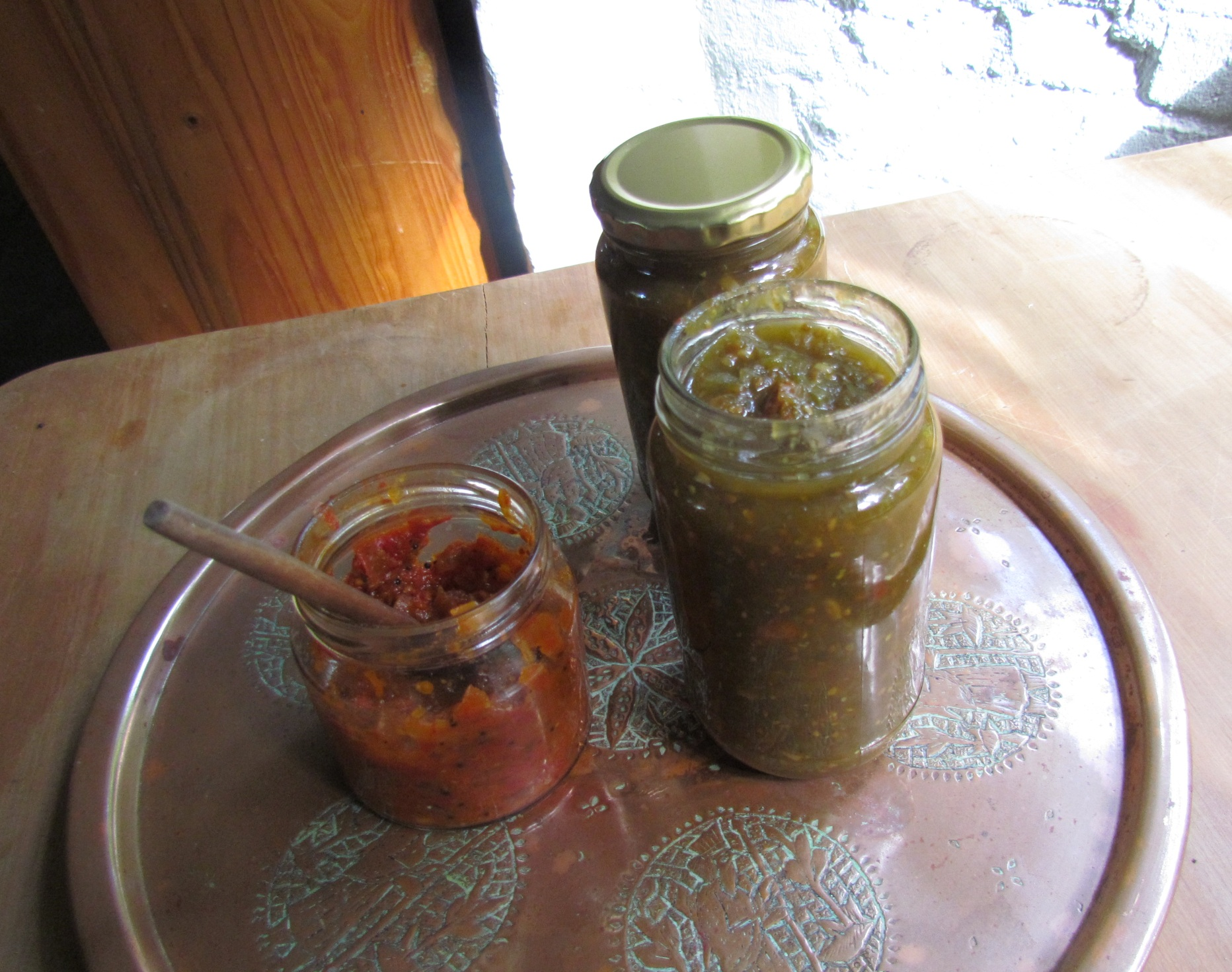 home-made organic tomato chutney
