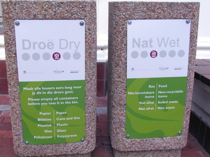recycling at stellenbosch university