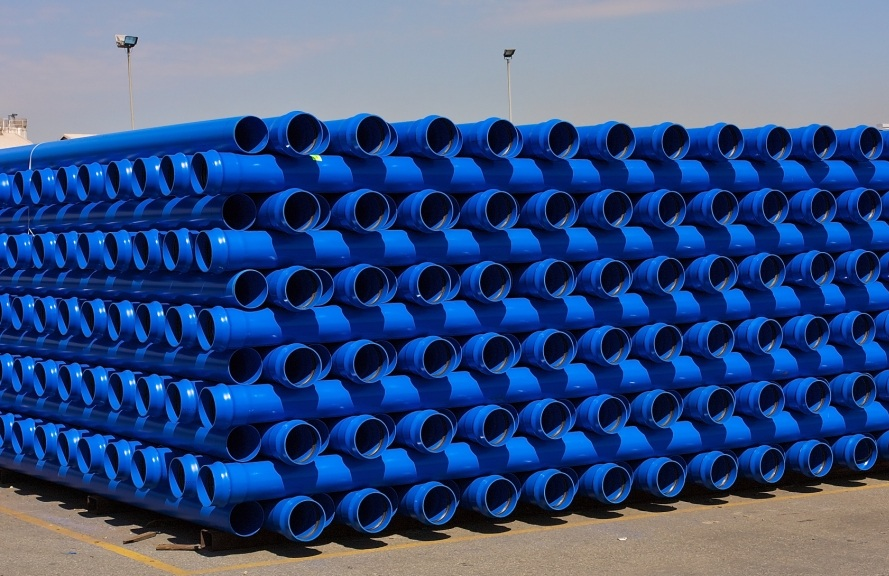 SA PVC pipes no heavy metals - blue water pipes