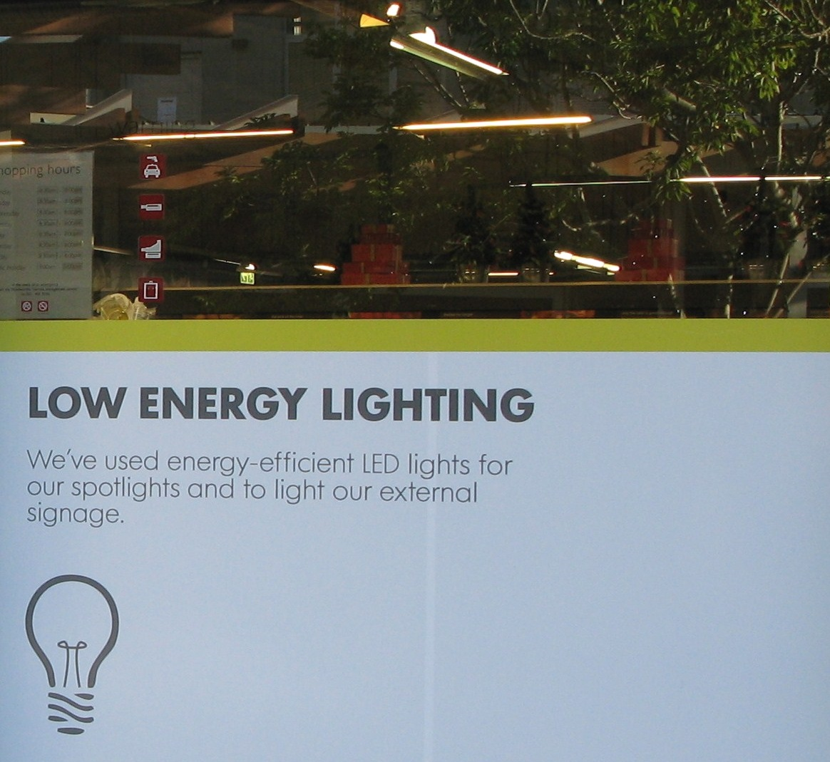 woolworths  customers - low energy lighting