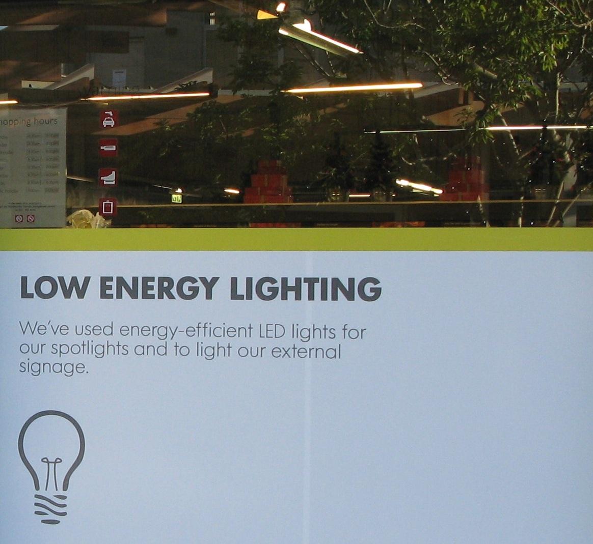 woolworths customers - low energy lighting