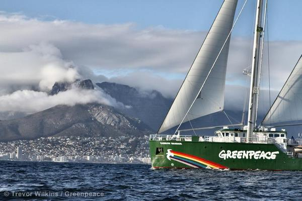 Greenpeace - Rainbow warrior comes to CT -3