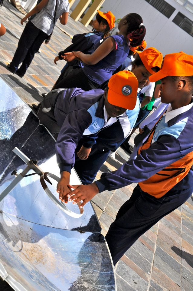 3 - School children learning about solar cooking