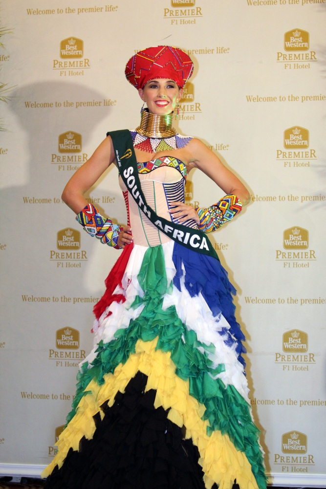 Miss Earth SA Tamerin Jardine placed 2nd in National Costume at the International Miss Earth 2012