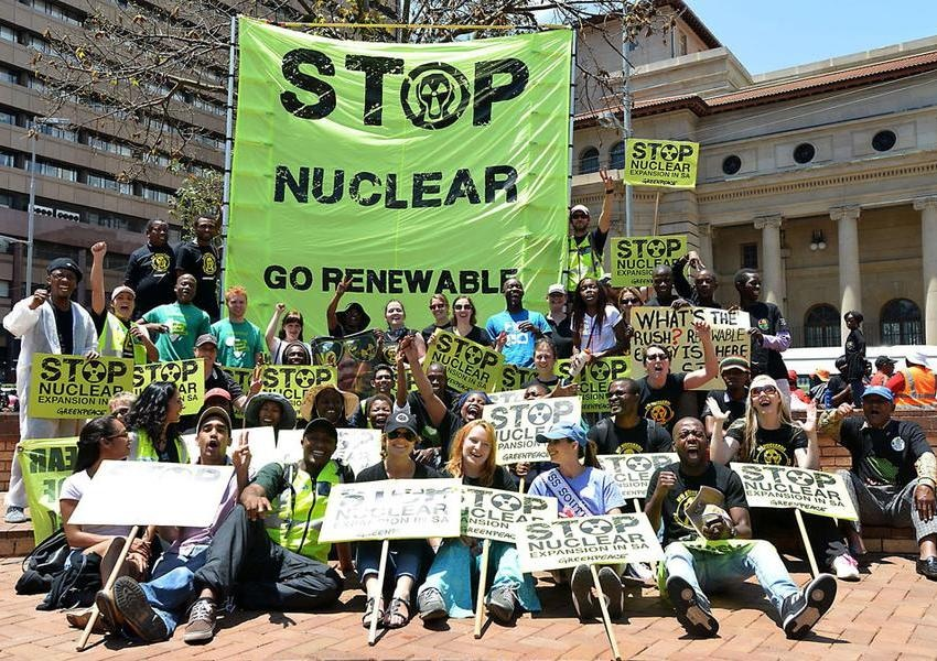 greenpeace africa earthlife africa anti-nuclear march