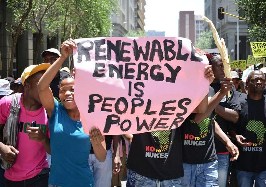 greenpeace africa earthlife africa anti-nuclear march2