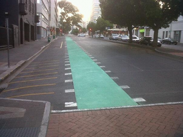 sas-first-green-cycle-lane-lands-in-bree-street