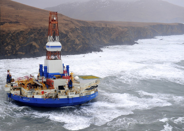 shell arctic rig aground 1