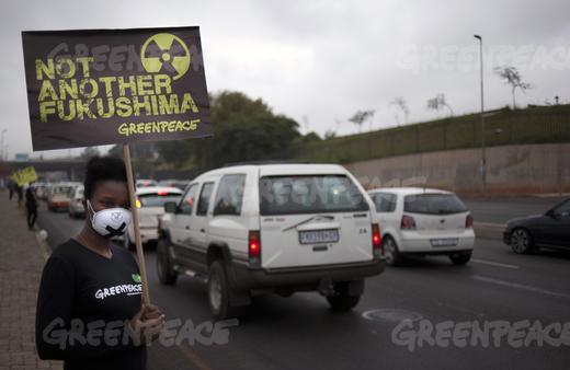 Greenpeace silent nuclear protest-3