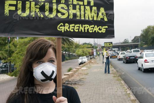 Greenpeace silent nuclear protest-4