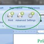 ecofont screen capture