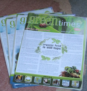 Green Times story - hard copy