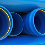 Water pipes blue