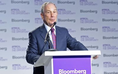 NY mayor Michael Bloomberg at Bloomberg's Africa Outlook Conference