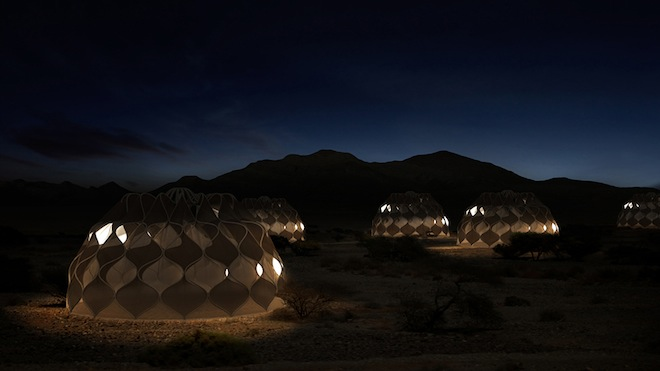 Collapsible solar-powered refugee shelters-2