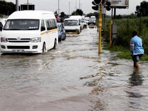 Masakhane Street flooded