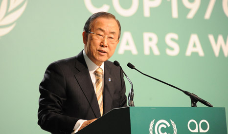Negotiators hope Ban Ki-moon's climate summit in September will see new emission and financial pledges delivered. Image: UNFCCC