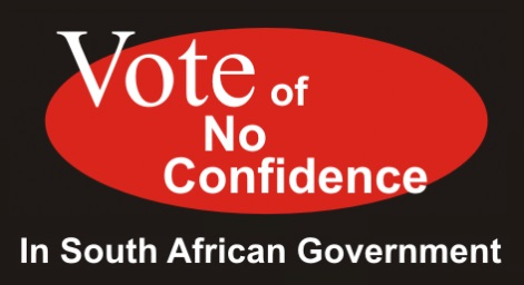Vote of no confidence in SA government