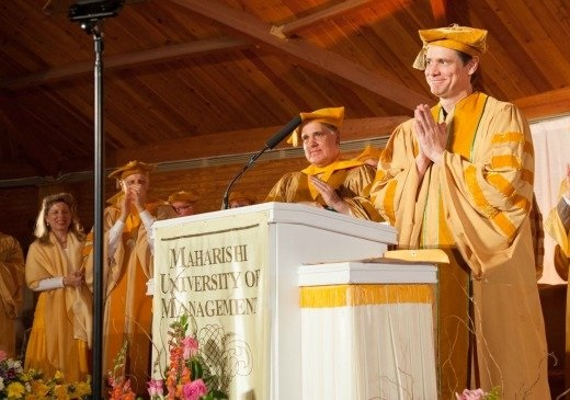 Jim Carrey at Maharishi University speech 2014