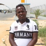 Migrant Jeffrey Oboh from Nigeria