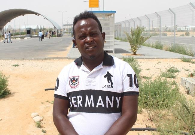 Migrant Jeffrey Oboh from Nigeria