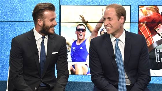 Prince William & David Beckham at Google Town Hall