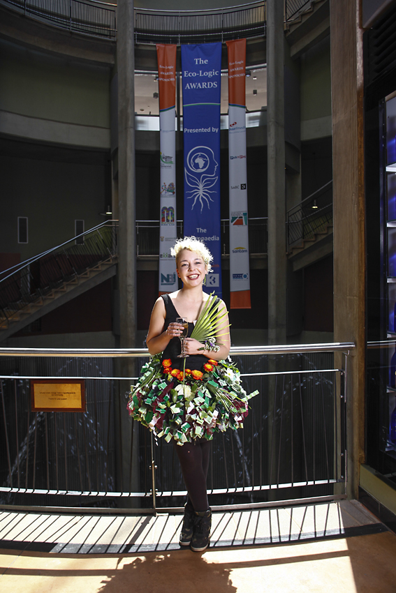 Sarah Farrell from Hotel Verde, winner of the Energy Saving category, in her Alter Eco-ego dress