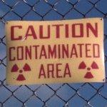 caution contaminated area