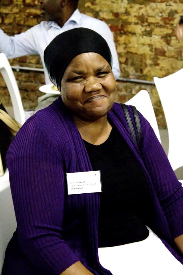 Mirriam Webb of the Lavel'ilanga Women Craft Cooperative