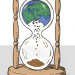 earth hourglass illustration