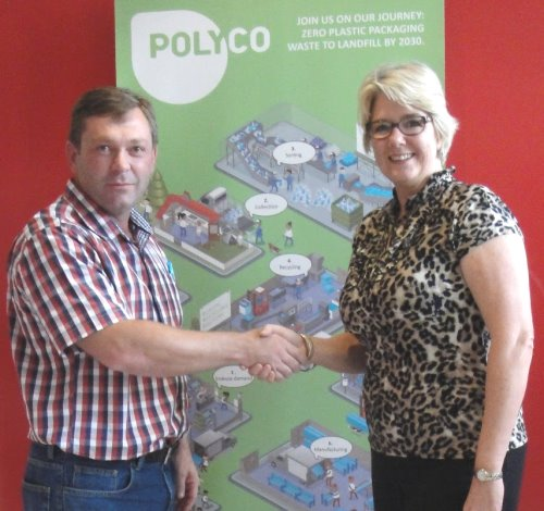 Riaan Brenkman of Mountain View Plastics with Mandy Naude of POLYCO