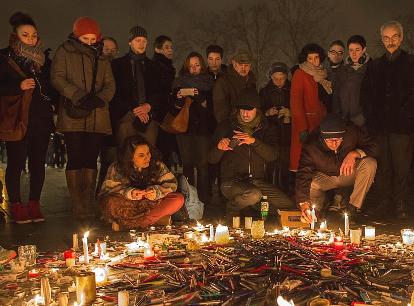 candlelit vigil paris shootings islam