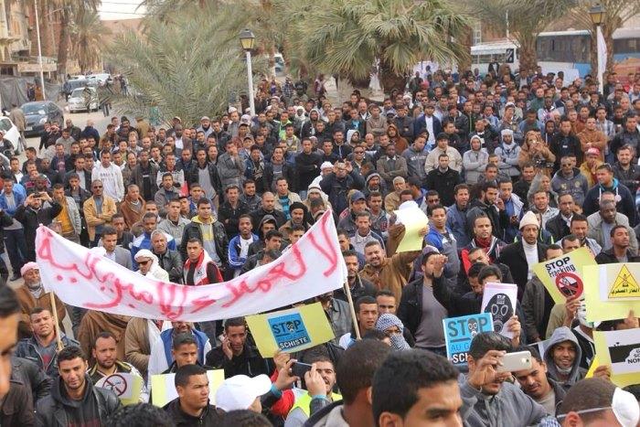 fracking protests algeria