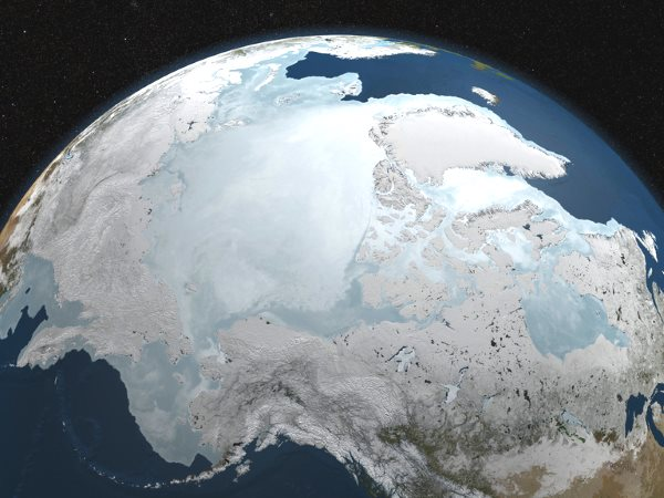 Arctic ice big heat climate change