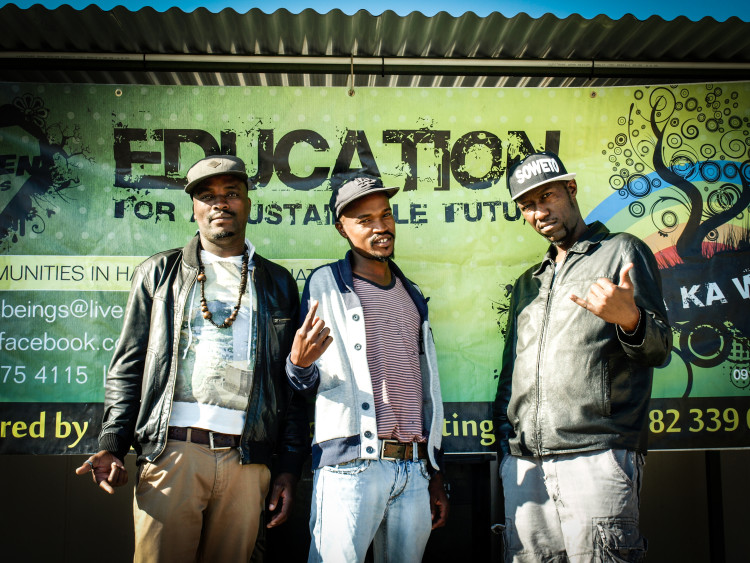 Smokolo, a kwaito group from Soweto, performed at the Cosmo City high schools
