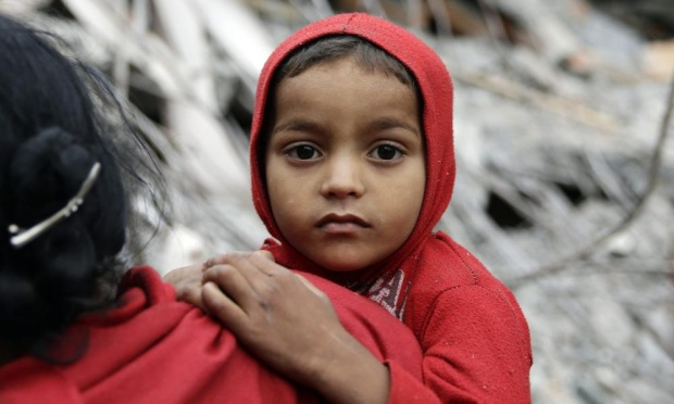 Child Nepal Earthquake