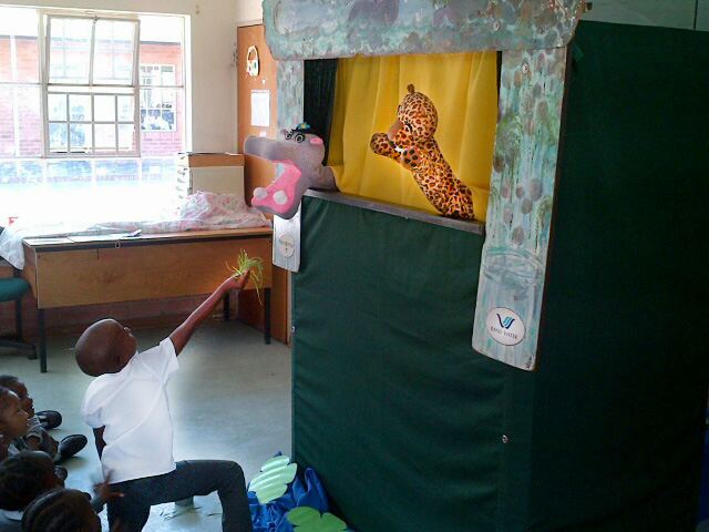 Rand Water conduct educational puppet shows at the Cosmo City primary schools