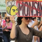 Monsanto protest scientist discredit department