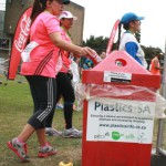 Plastics SA litter bin at finishing line