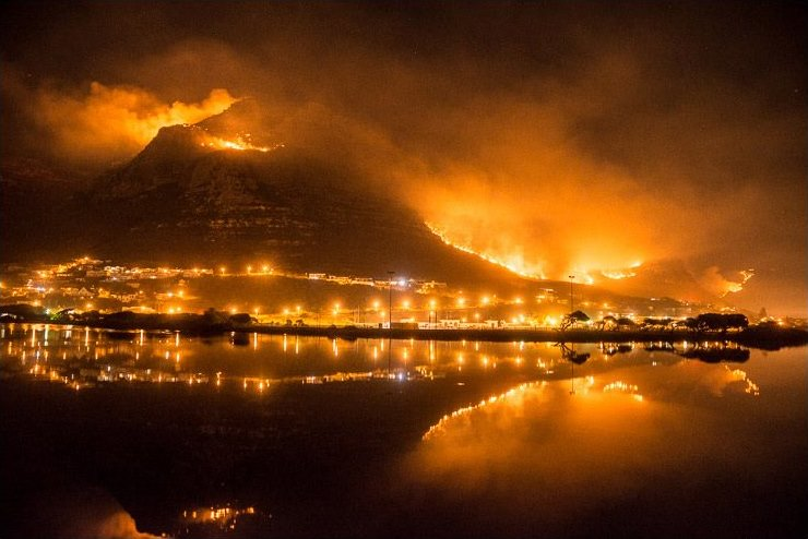 cape town on fire