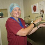 Delanie Bezuidenhout busy with a site visit at a Western Cape Hospital