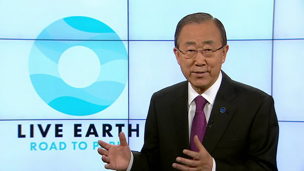 banki moon cop21 live earth