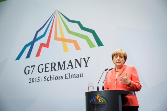 Chancellor Angela Merkel speaks G7 summit